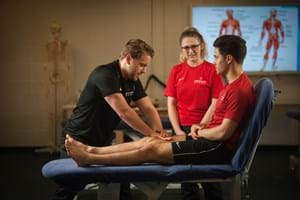 Hartpury students learning about sports therapy