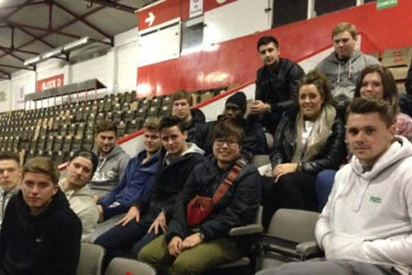 Image for University Sports Business Management Students Visit Professional Clubs