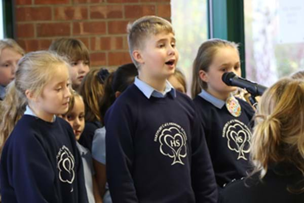 Image for Hark the Hartpury angels sing! Primary pupils sing loud and proud to put college in the Christmas spirit