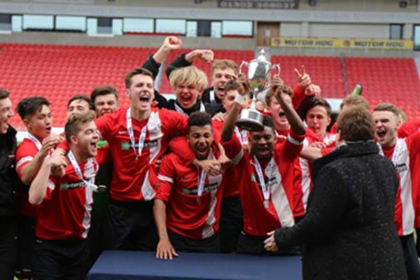 Image for 'Hands' off our trophy! Hartpury secure title for second consecutive year with ESFA showpiece success