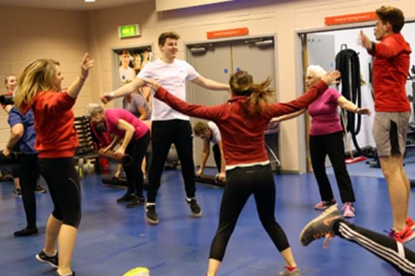 Image for Forever fit over-55s teach the youngsters a thing or two as students step to it to conduct class