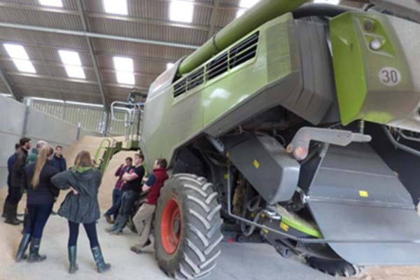Image for New Agriculture students go behind the scenes at Cotswolds Farm