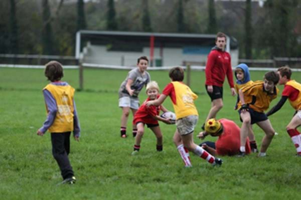 Image for Hartpury students lend a helping hand to local junior rugby club