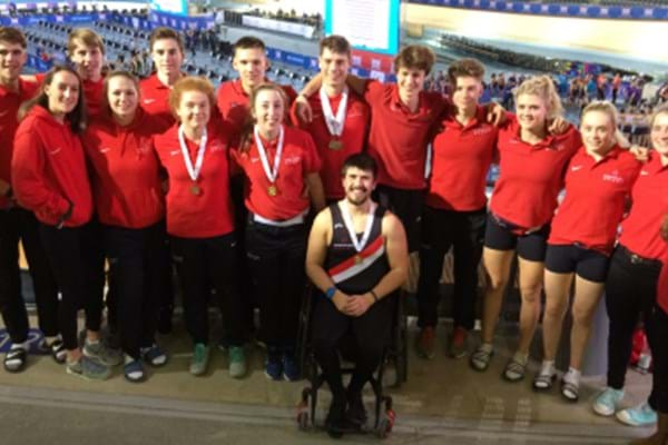 Image for Hartpury students amongst the medals as Scott sails to gold with world record row