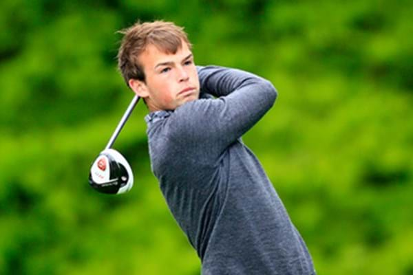 Image for Hartpury's Jamie jumps into golfing top 10