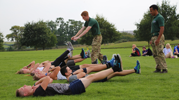 Students put through their paces with a gruelling Commando challenge