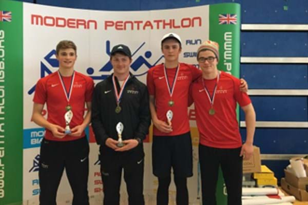 Image for Hartpury pentathletes take the crown at Crystal Palace with biathlon success