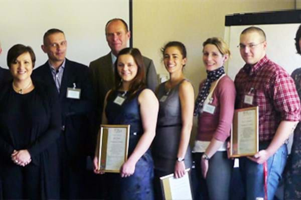 Image for Equine degree students present research to industry