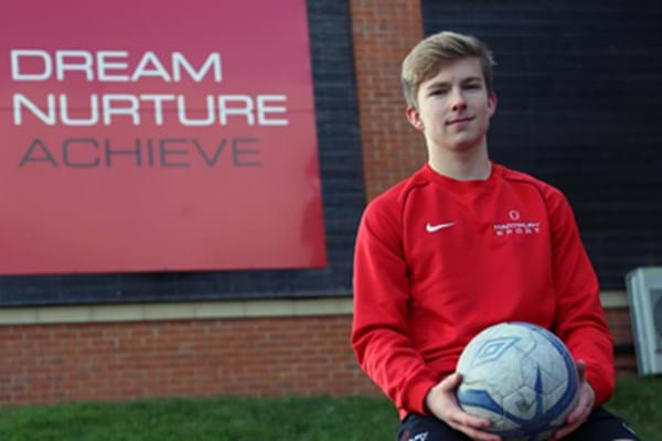 Image for Hartpury talent's winning mix of science and soccer acts as catalyst for Cambridge call