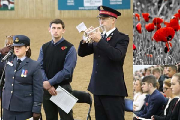 Image for Hartpury remembers…standing room only for Remembrance Day Service