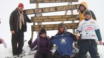 Hartpury's Kathryn spends unforgettable New Year's Day on Mount Kilimanjaro on charity trek