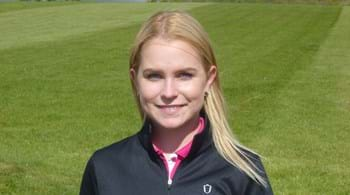 Image for Hartpury student Meg Rossouw helps shoot college's girl golfers to national title