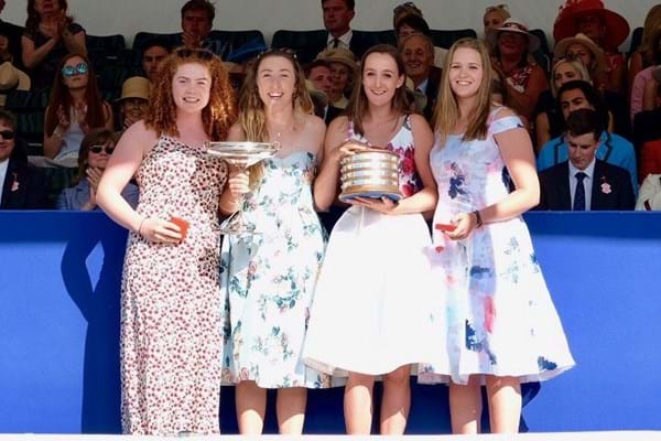 Image for Hartpury rowers require photo finish as they race to fourth Henley title