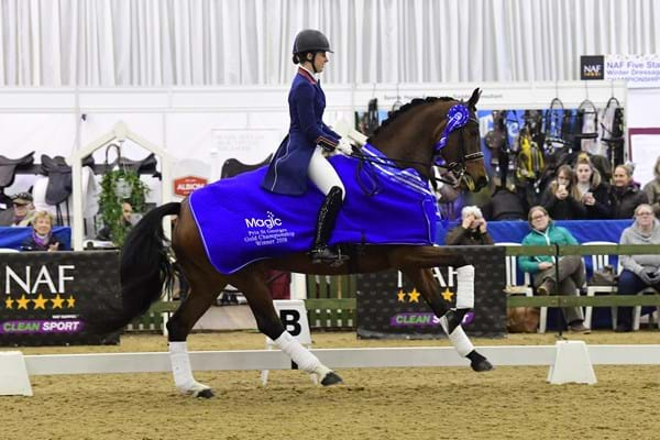 Image for Six of the best for champion Charlotte at Winter Dressage Championships