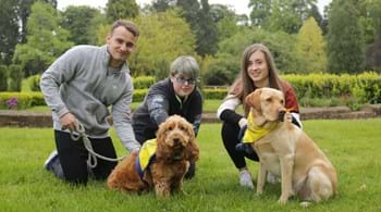 Image for Dogs Ralph and Bailey 'leading' in student support at Hartpury