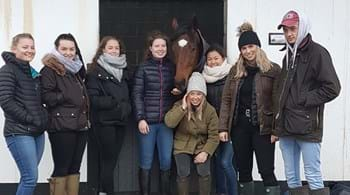 Horseracing degree students at Hartpury meet Gold Cup-winning trainer Gordon Elliott