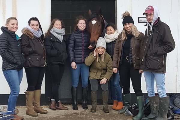Image for Horseracing degree students at Hartpury meet Gold Cup-winning trainer Gordon Elliott