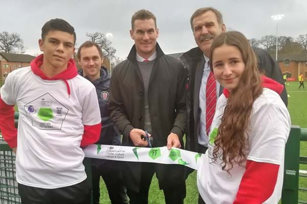 Image for Exeter City boss and Hartpury graduate Matt Taylor opens new 3G football pitch at Hartpury