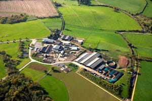 Aerial view of the commercial farm at Hartpury