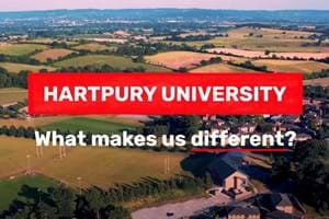 Aerial view of Hartpury campus