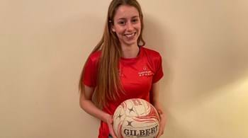 Image for A-level student Lily fulfils England netball ambition